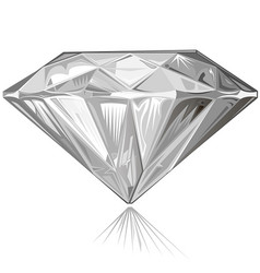 diamond side view vector image
