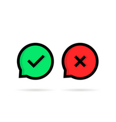 dos or donts speech bubble like check marks vector image