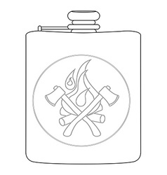 Drinking flask Contour vector image