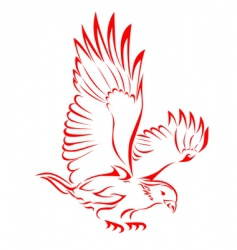 eagle tattoo vector image