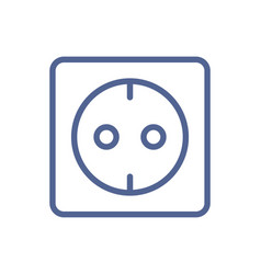 European electric socket outlet icon in simple vector