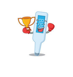 Fabulous boxing winner digital thermometer vector