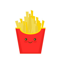 Fast food french fries tasty street food vector