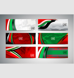 Flag uae banner vector