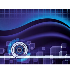 futuristic blue wave abstract techno background vector image