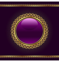 Golden ornamental medallion vector