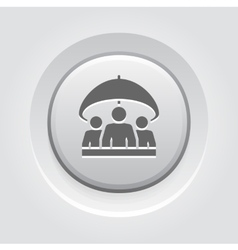 Group life insurance icon grey button design vector