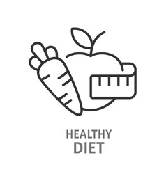Healthy diet line icon isolated vector