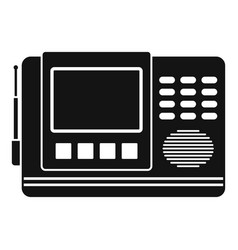 House intercom icon simple style vector