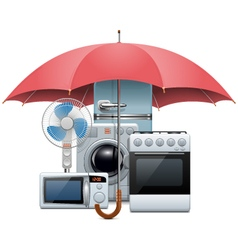 Household Appliances Protection vector image