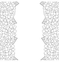 hydrangea flower outline border vector image