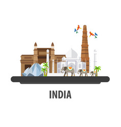 India travel location vacation or trip and vector