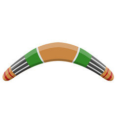isolated traditional boomerang vector image
