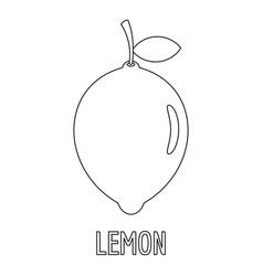 lemon icon outline style vector image