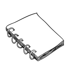 line notebook to write about study vector image