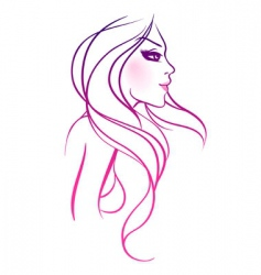 long hair vector image vector image
