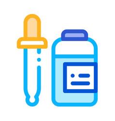 Medicine dropper supplements icon vector