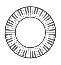 Musical instrument keys vector