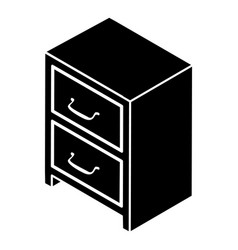 office chest of drawers icon simple style vector image