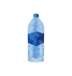 origami water bottle vector image