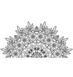 Page of coloring book with flowers vector image