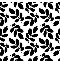 Plant twigs with leaves seamless pattern vector