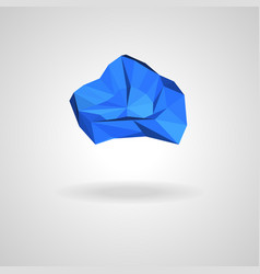 Polygonal blue cloud with shadow vector