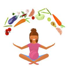 pregnant woman diet vector image