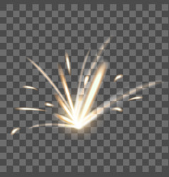 realistic detailed 3d blazing fire spark on a vector image