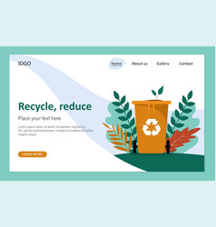 Recycle reduce waste recycling dispose vector