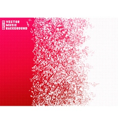 Red and white music background vector image