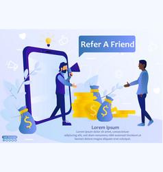 Refer a friend web template vector