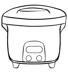 Rice cooker vector image