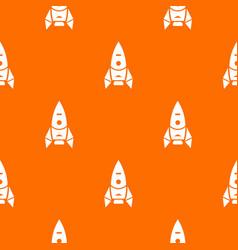 Rocket spacecraft pattern orange vector