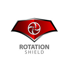 rotation shield logo concept design symbol vector image