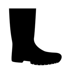 Rubber boots the black color icon vector