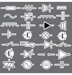 schematic symbols in electrical engineering vector image