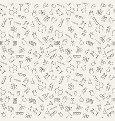 Seamless pattern with chemical laboratory vector