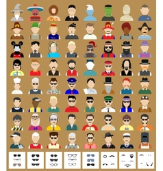 Set of avatars man vector image