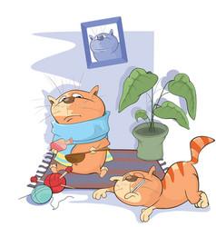 Sick cats vector