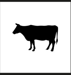 silhouette of a standing cow vector image