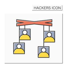 Social engineering color icon vector