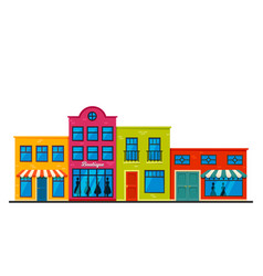 store facades front strip vector image
