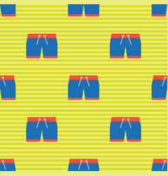 Swimsuit shorts seamless pattern for use as vector
