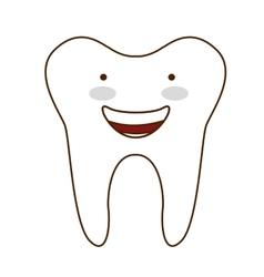 teeth healthcare dental icon vector image