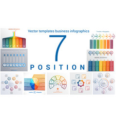 Templates business infographics 7 positions vector