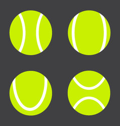 Tennis ball set vector image