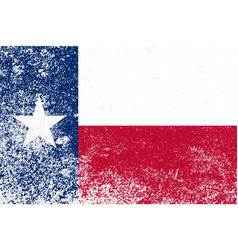 texas state grunge flag vector image