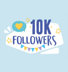 Thank you 10k followers vector