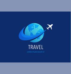 travel tourism agency logo design icons vector image